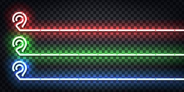 Conjunto de letreiro de néon realista do logotipo do folheto map pin para decoração e cobertura no fundo transparente. conceito de entrega, logística e transporte.