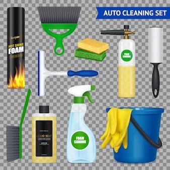 Conjunto de limpeza automática com