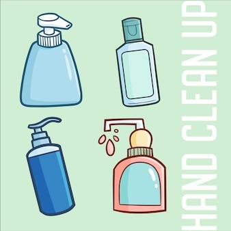 Conjunto de limpeza de mãos kawaii fofo