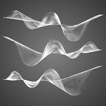 Conjunto de linhas curvas suaves abstratas