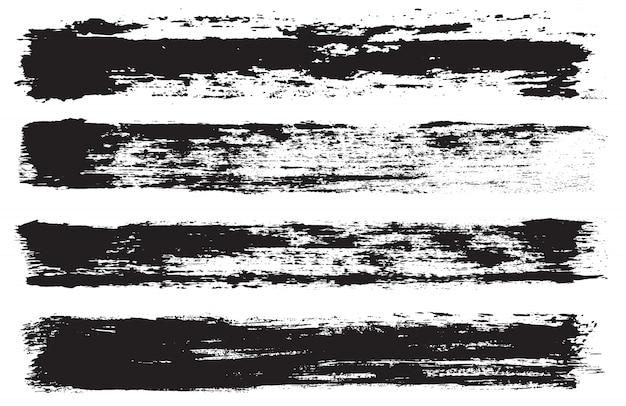 Conjunto de linhas de pintura do grunge