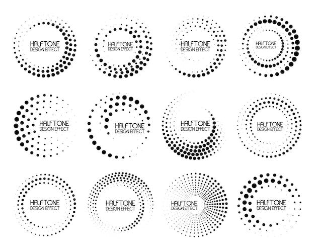 Conjunto de linhas de velocidade em forma de círculo