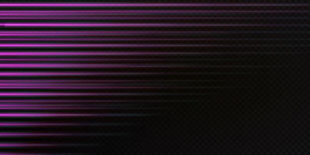 Conjunto de linhas de velocidade isolam o fundo transparente. coleção de vetor de sinais de tráfego