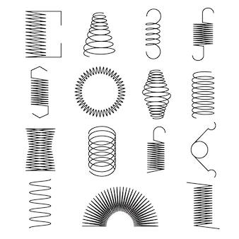 Conjunto de linhas em espiral metálica flexível