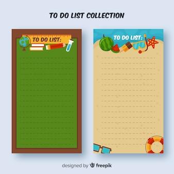 Conjunto de listas de tarefas