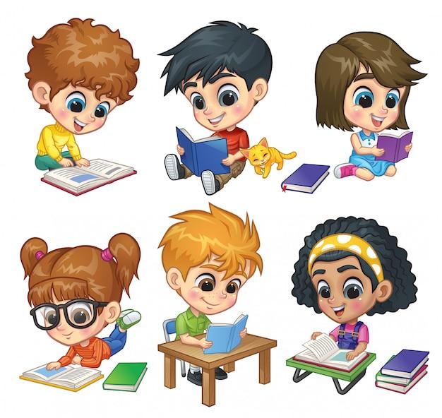 Conjunto de livros de leitura para crianças