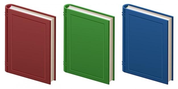 Conjunto de livros fechados em capa dura