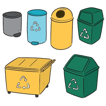 Conjunto de lixo reciclável