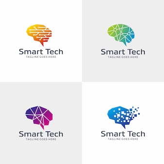 Conjunto de logos de aprendizagem e educação
