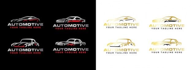 Conjunto de logotipo automotivo moderno simples