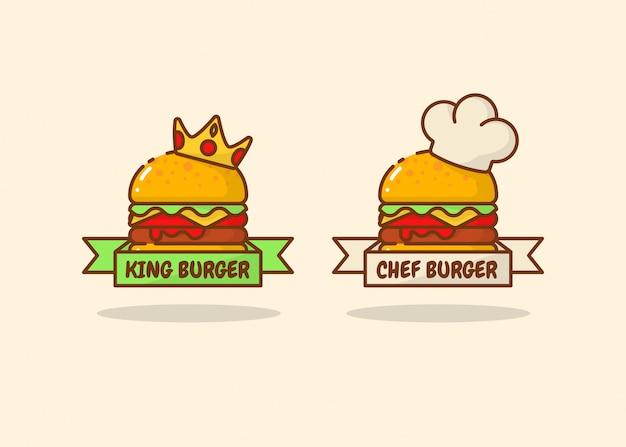 Conjunto de logotipo burger