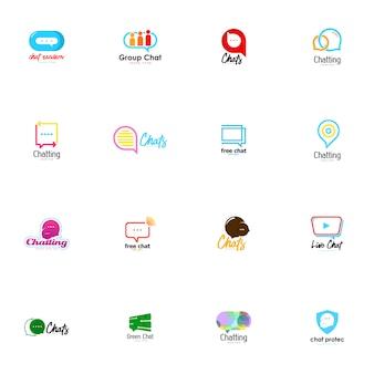Conjunto de logotipo conversando