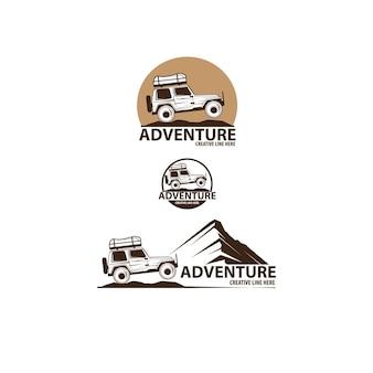 Conjunto de logotipo da adventure