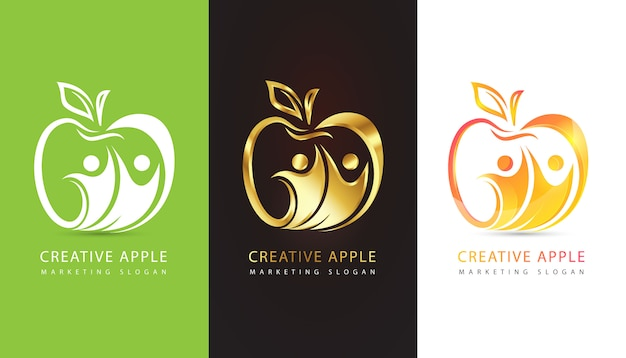 Conjunto de logotipo da apple