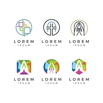 Conjunto de logotipo da igreja