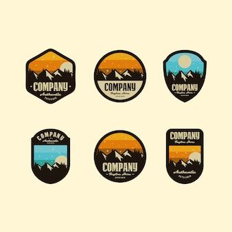 Conjunto de logotipo da montanha