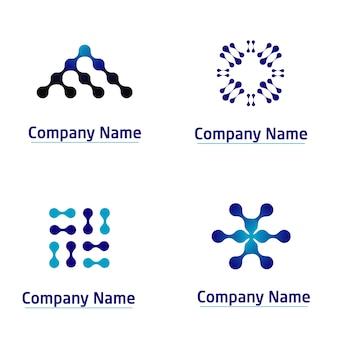 Conjunto de logotipo da tecnologia