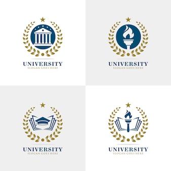 Conjunto de logotipo da universidade