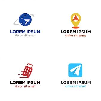 Conjunto de logotipo de agente de viagens