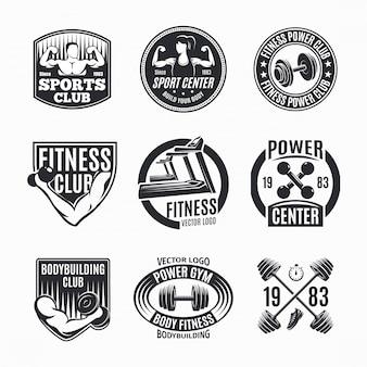 Conjunto de logotipo de aptidão de poder