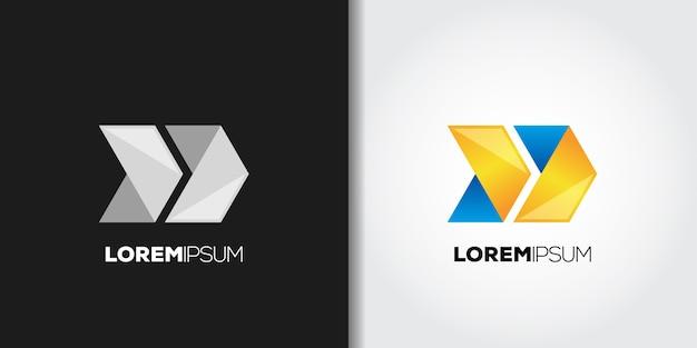 Conjunto de logotipo de avanço rápido