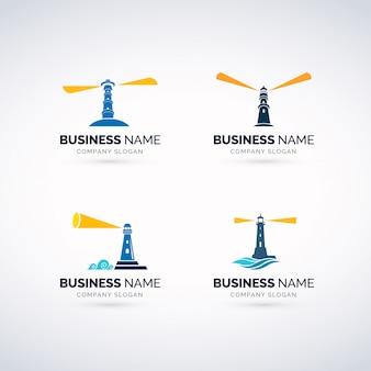 Conjunto de logotipo de casa clara