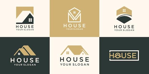 Conjunto de logotipo de casa, coleção de logotipo para casa criativa.