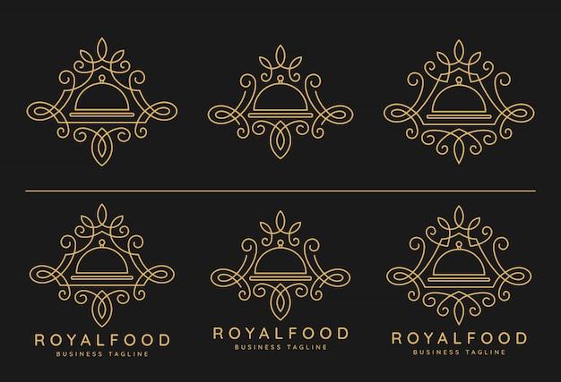 Conjunto de logotipo de comida real