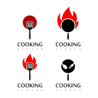 Conjunto de logotipo de cozinha