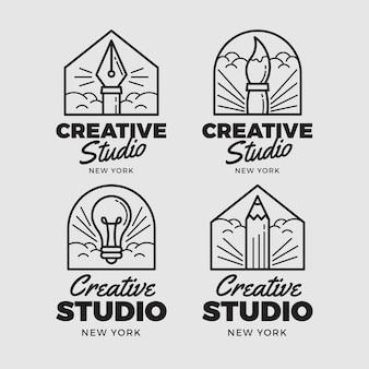 Conjunto de logotipo de designer gráfico