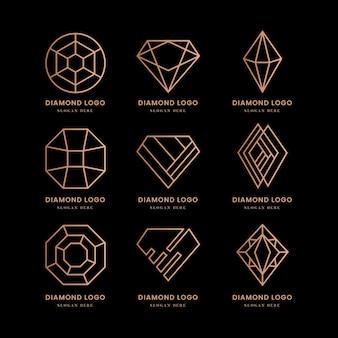 Conjunto de logotipo de diamante