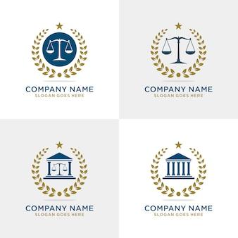 Conjunto de logotipo de empresa de advocacia