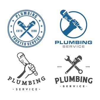 Conjunto de logotipo de encanamento