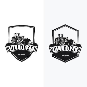 Conjunto de logotipo de escavadeira