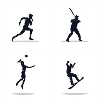Conjunto de logotipo de esportes
