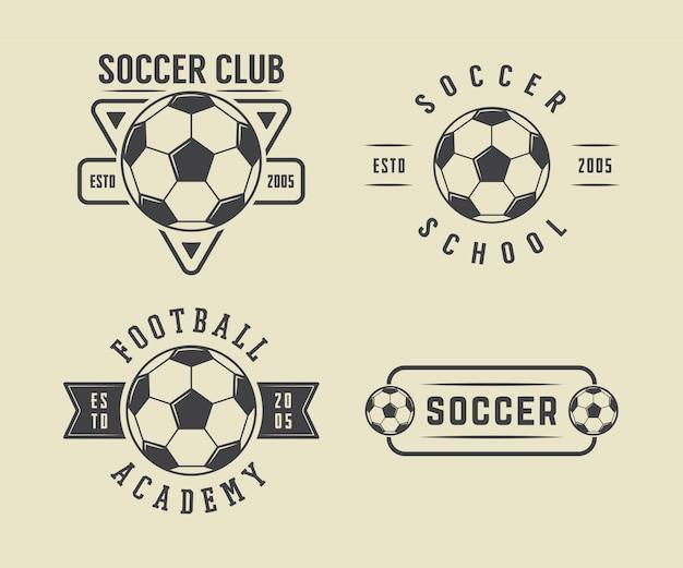 Conjunto de logotipo de futebol ou futebol