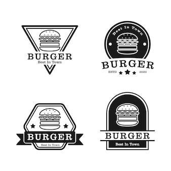 Conjunto de logotipo de hambúrguer perfeito para empresa