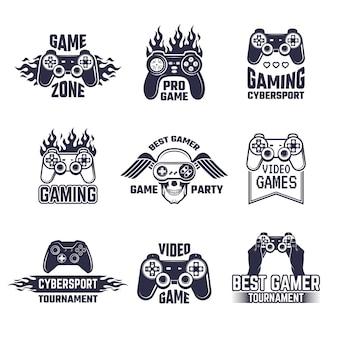 Conjunto de logotipo de jogos