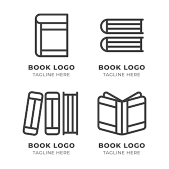 Conjunto de logotipo de livro moderno