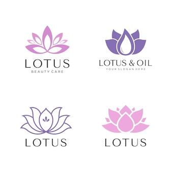Conjunto de logotipo de lótus