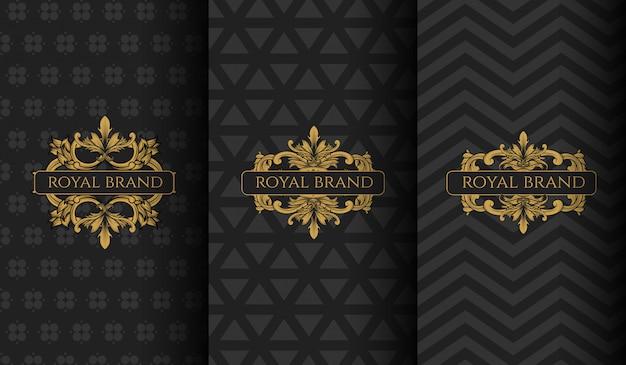 Conjunto de logotipo de luxo