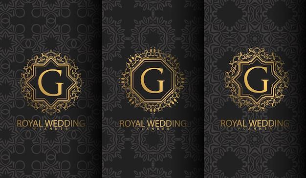 baac59b97 Conjunto de logotipo de luxo