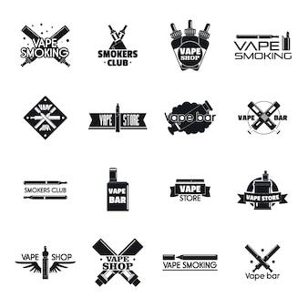 Conjunto de logotipo de modificação de cigarro eletrônico