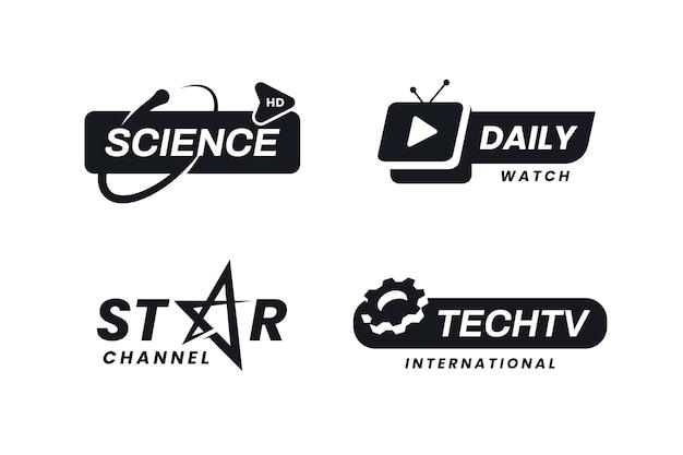 Conjunto de logotipo de notícias mínimas