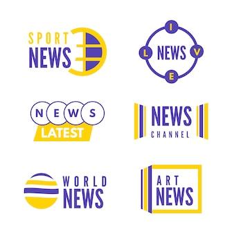 Conjunto de logotipo de notícias