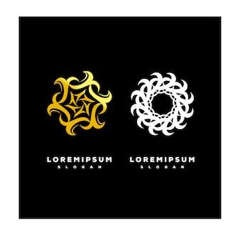 Conjunto de logotipo de ornamento