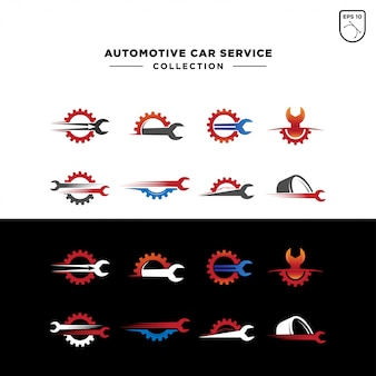 Conjunto de logotipo de serviço de carro automotivo