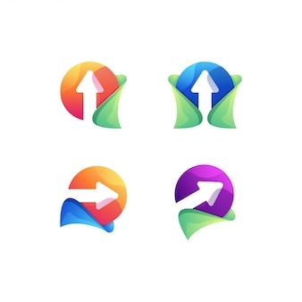 Conjunto de logotipo de seta