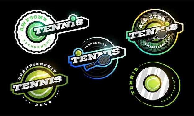 Conjunto de logotipo de tênis