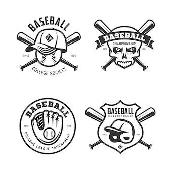 Conjunto de logotipo de time de beisebol